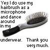 dance hairbrush avatar